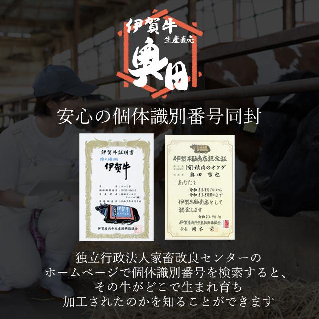 伊賀牛の個体認証番号