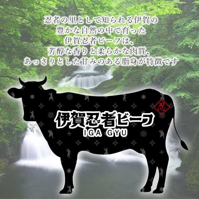 伊賀忍者ビーフは芳醇な香りと柔らかな肉質、そしてあっさりとした甘みのある脂身が特徴